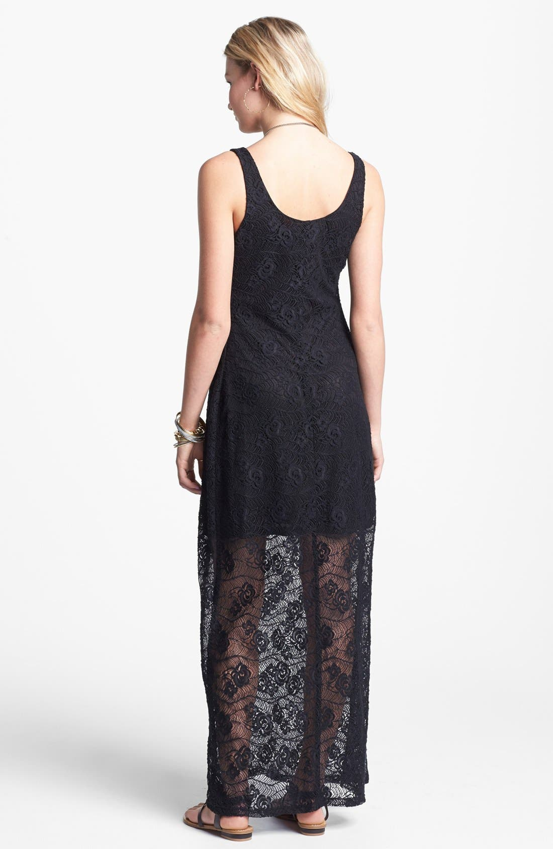 Alternate Image 2  - Fire Lace Tank Maxi Dress (Juniors)
