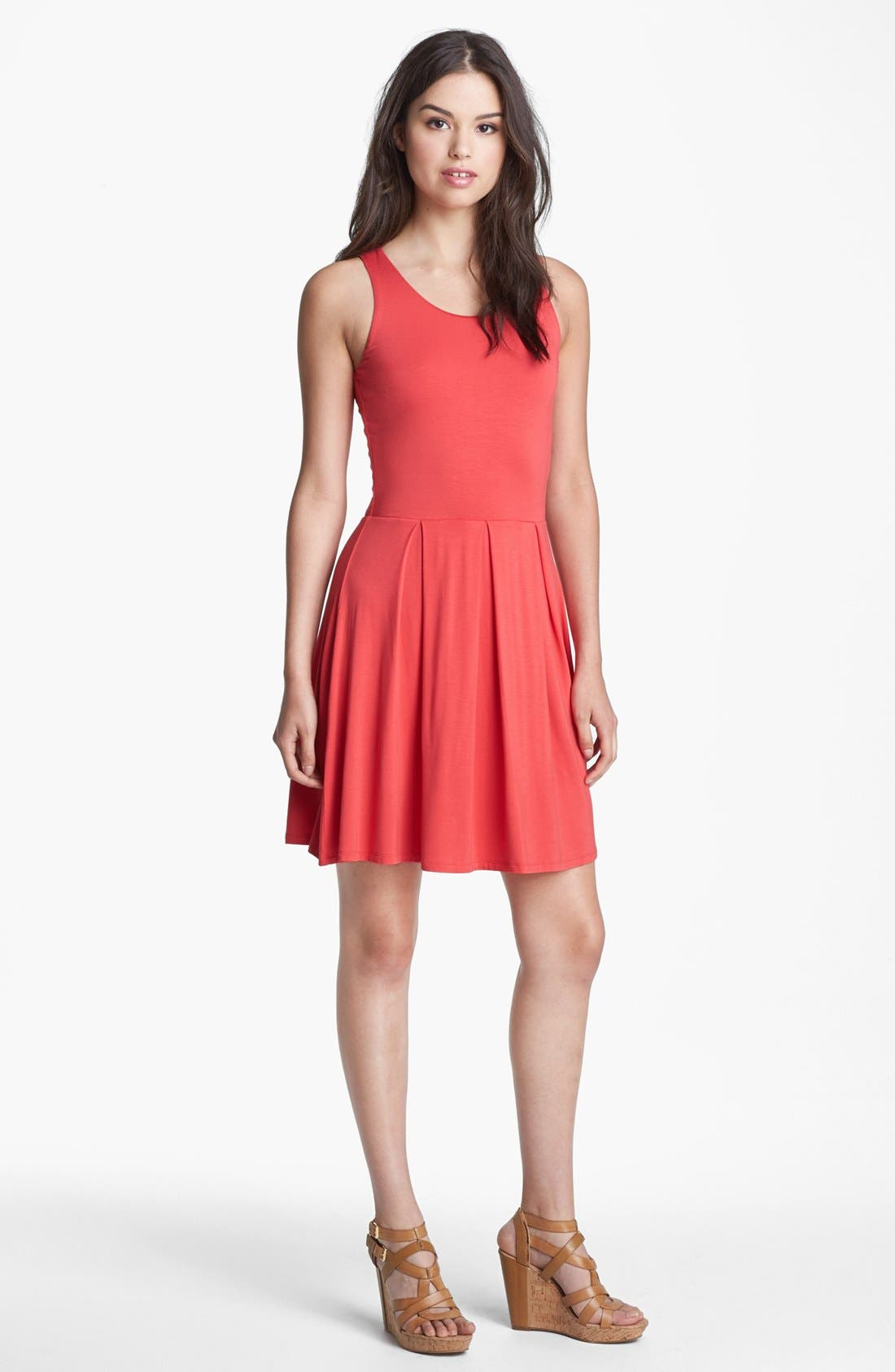 Alternate Image 1 Selected - Felicity & Coco Jersey Skater Dress (Regular & Petite) (Nordstrom Exclusive)