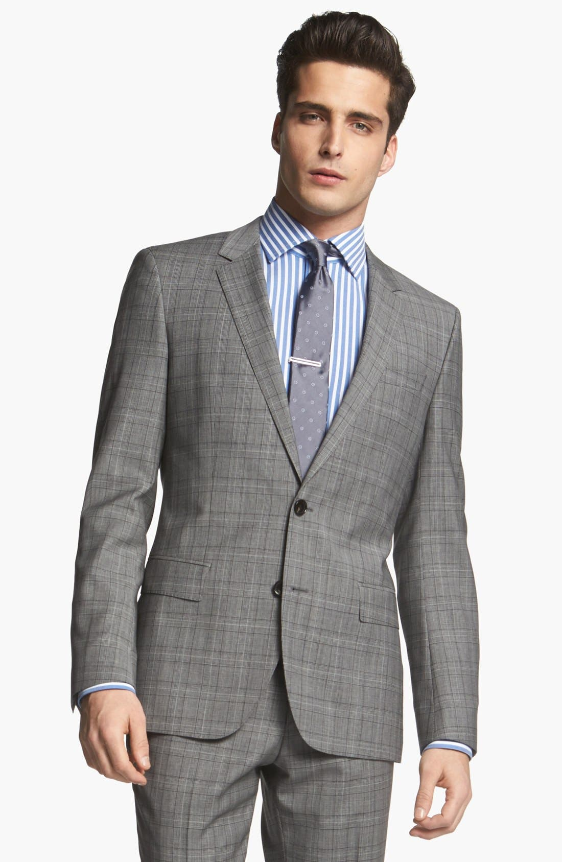 Alternate Image 4  - BOSS HUGO BOSS 'Huge/Genius' Extra Trim Fit Plaid Suit