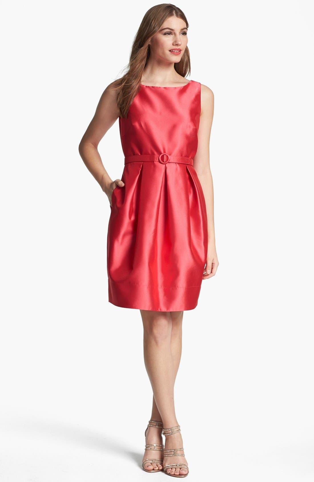 Alternate Image 1 Selected - Eliza J Belted Tulip Dress