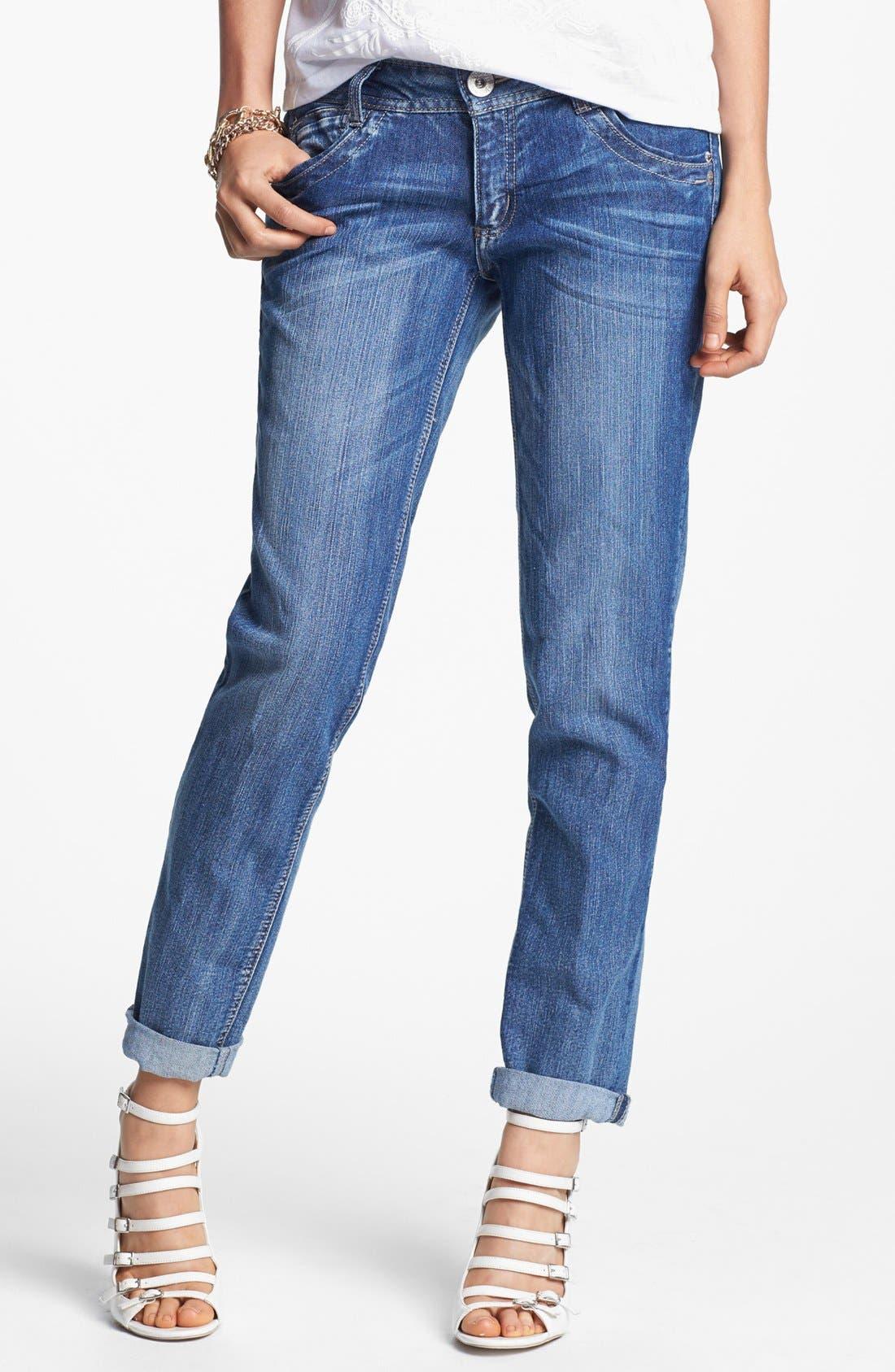 Alternate Image 1 Selected - Jolt 'Blasted' Boyfriend Jeans (Medium) (Juniors)