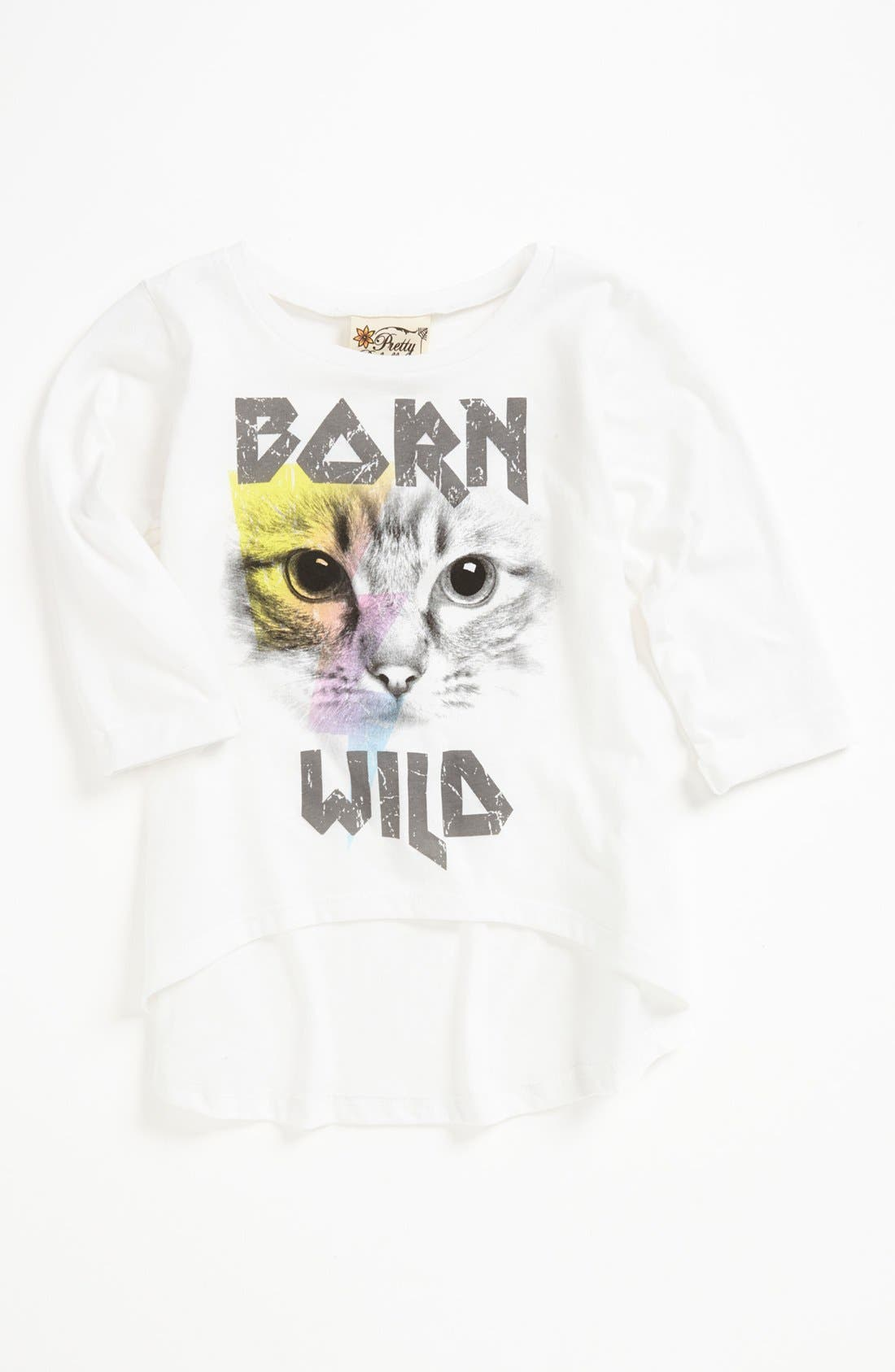Alternate Image 1 Selected - Little Pretties 'Born Wild' Tee (Little Girls) (Online Only)