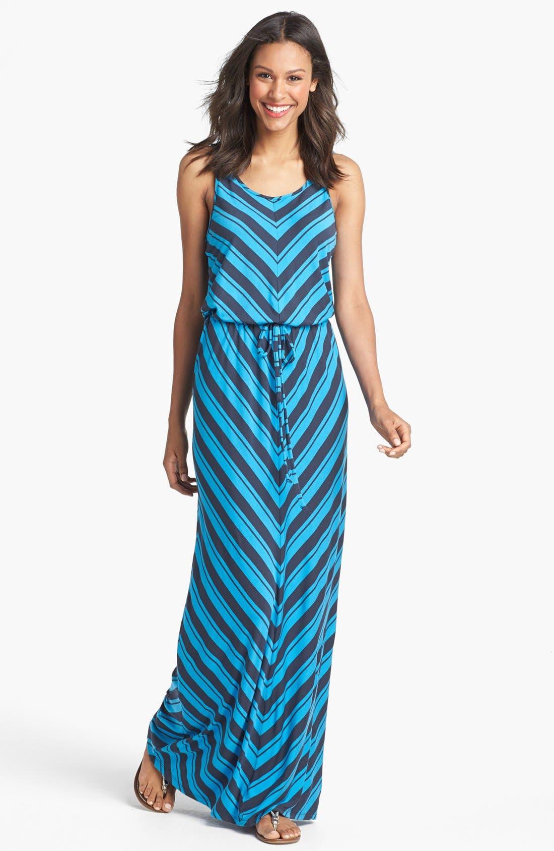 Main Image - Caslon® Mitered Stripe Maxi Dress