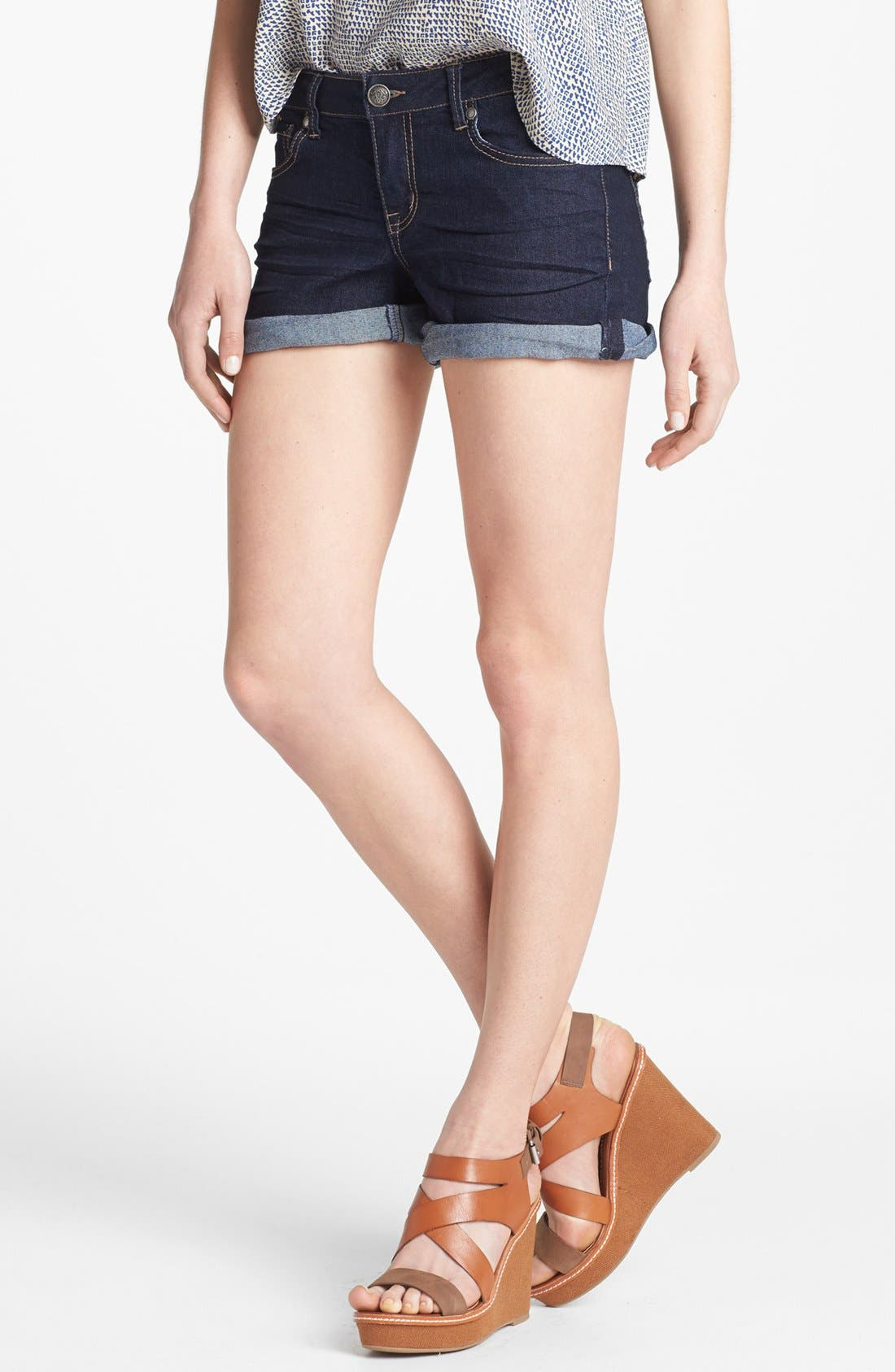 Alternate Image 1 Selected - Jessica Simpson 'Forever' Cuff Denim Shorts