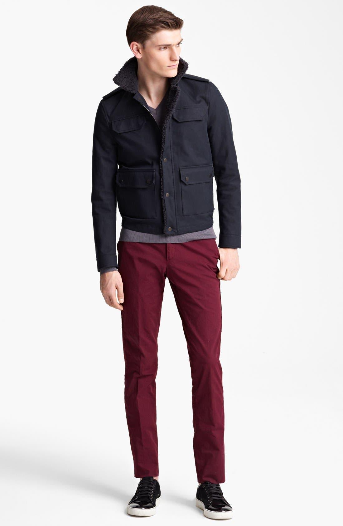 Alternate Image 4  - Lanvin Genuine Shearling & Cotton Bomber Jacket