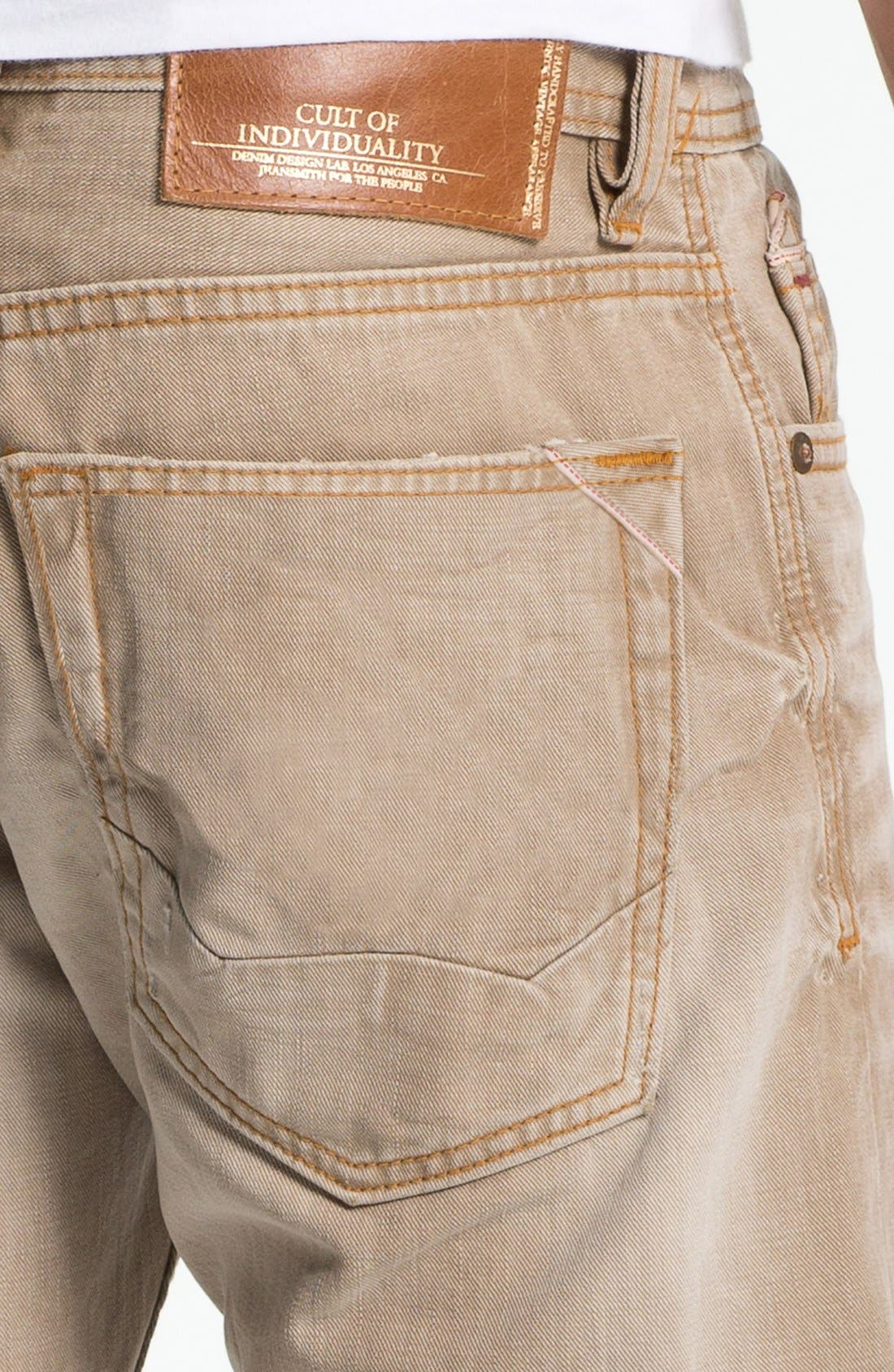 Alternate Image 4  - Cult of Individuality 'Rebel' Straight Leg Jeans (Desert)