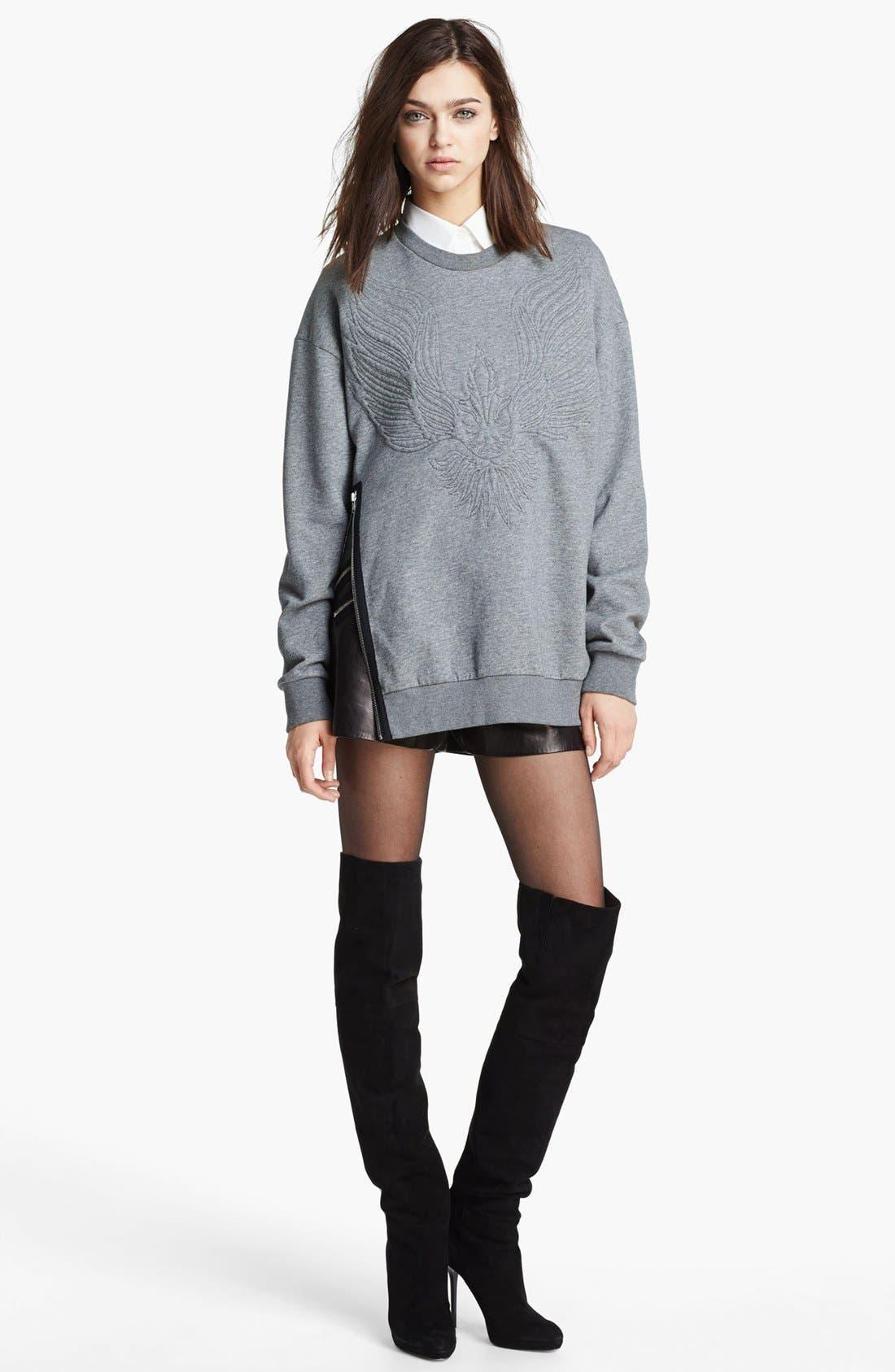 Alternate Image 2  - 3.1 Phillip Lim Quilted Phoenix Oversized Sweatshirt