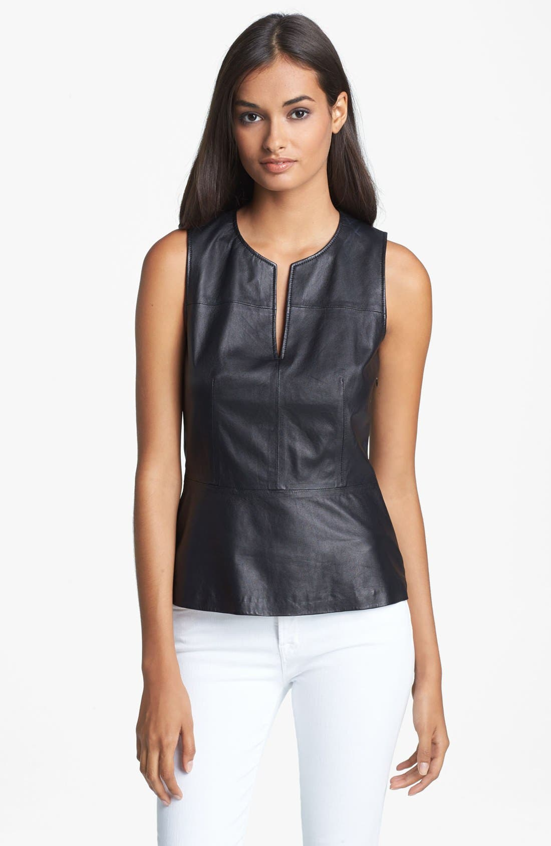 Alternate Image 1 Selected - Theory 'Etia L.' Leather Top