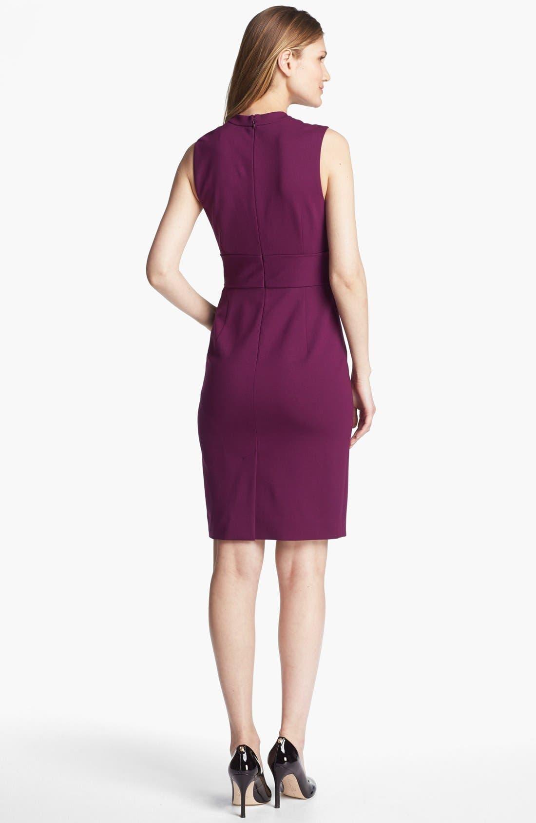 Alternate Image 2  - Classiques Entier® Italian Ponte Surplice Dress