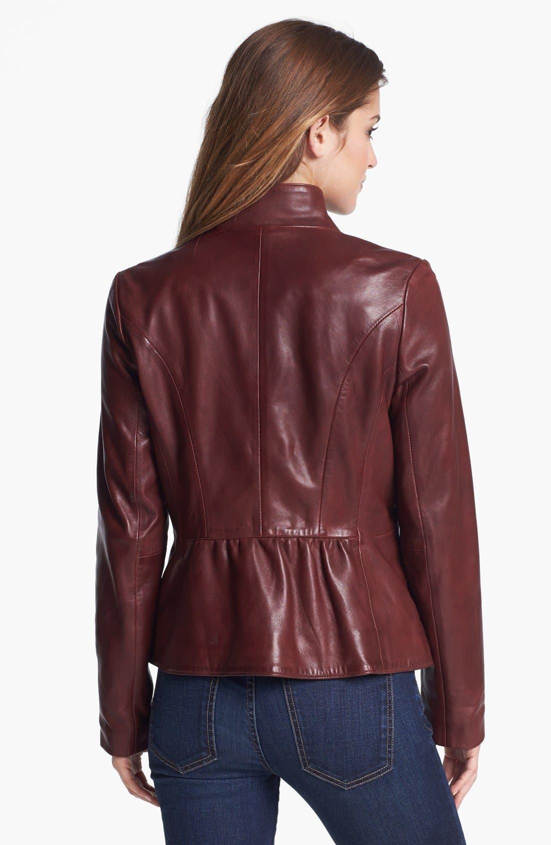 Alternate Image 2  - Elie Tahari 'Beverley' Leather Moto Jacket