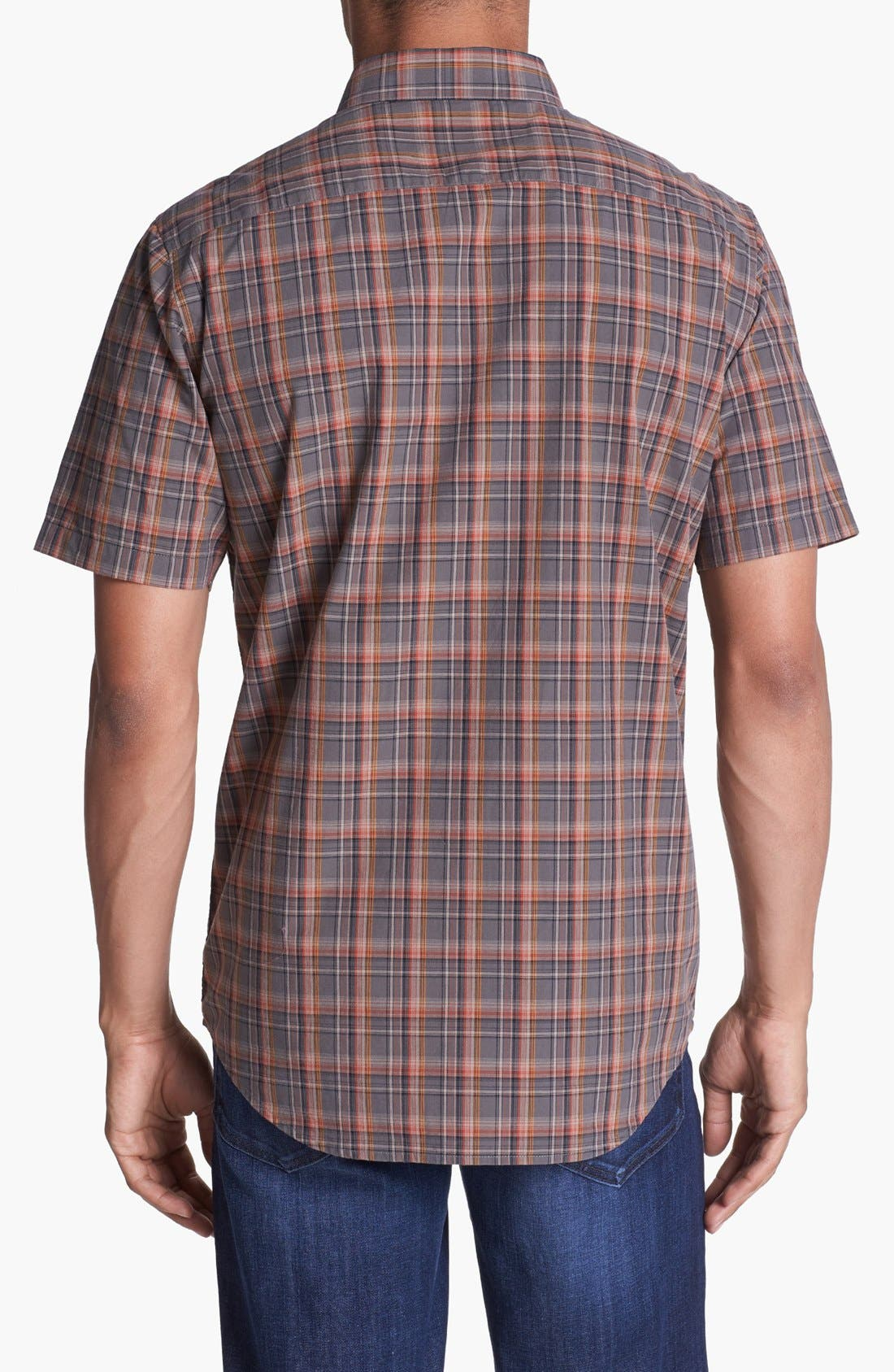 Alternate Image 3  - RVCA 'Sundown' Short Sleeve Plaid Shirt
