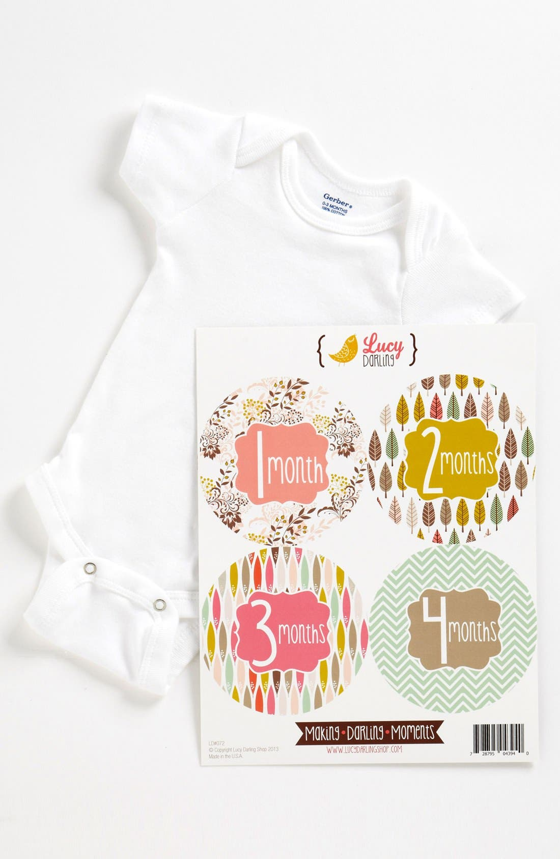 Main Image - Lucy Darling Bodysuit & Stickers (Baby)