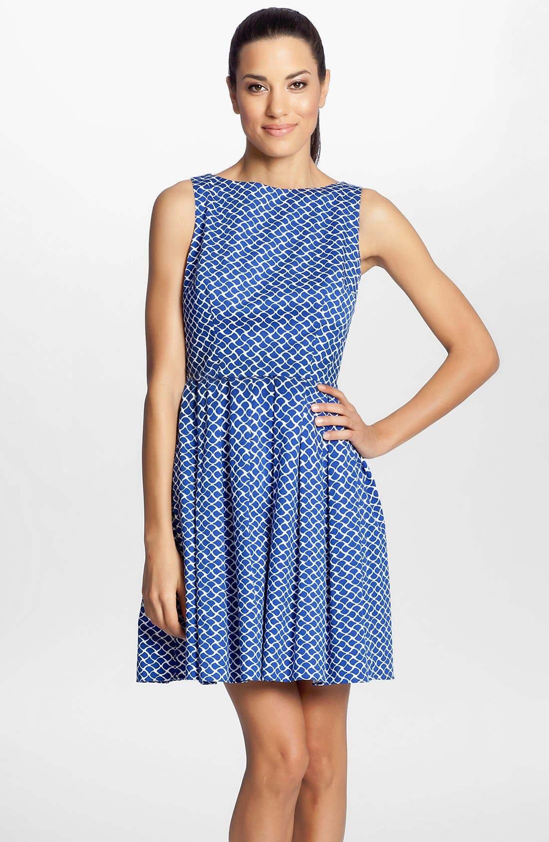 Alternate Image 1 Selected - Cynthia Steffe Sleeveless Print Fit & Flare Dress