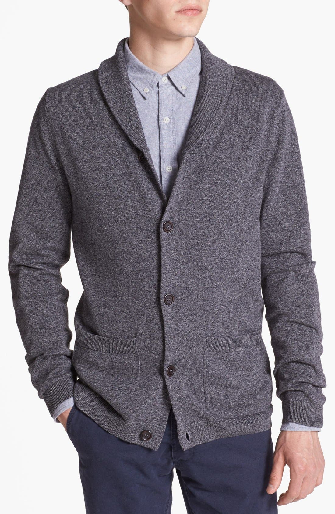 Alternate Image 1 Selected - Topman Shawl Collar Cardigan