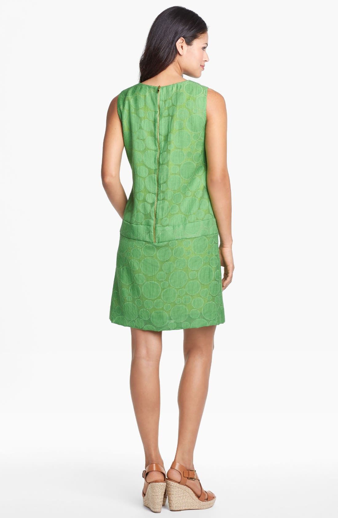 Alternate Image 2  - Tahari Jacquard Drop Waist Shift Dress