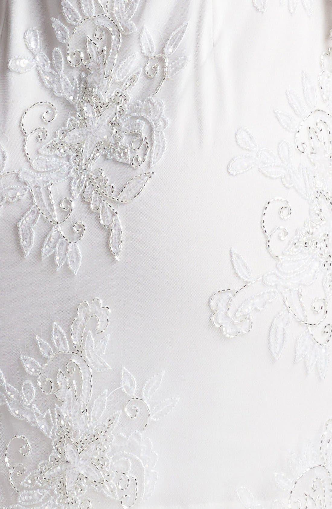 Alternate Image 3  - Pisarro Nights Embellished Sheer Sleeve Tulle Dress