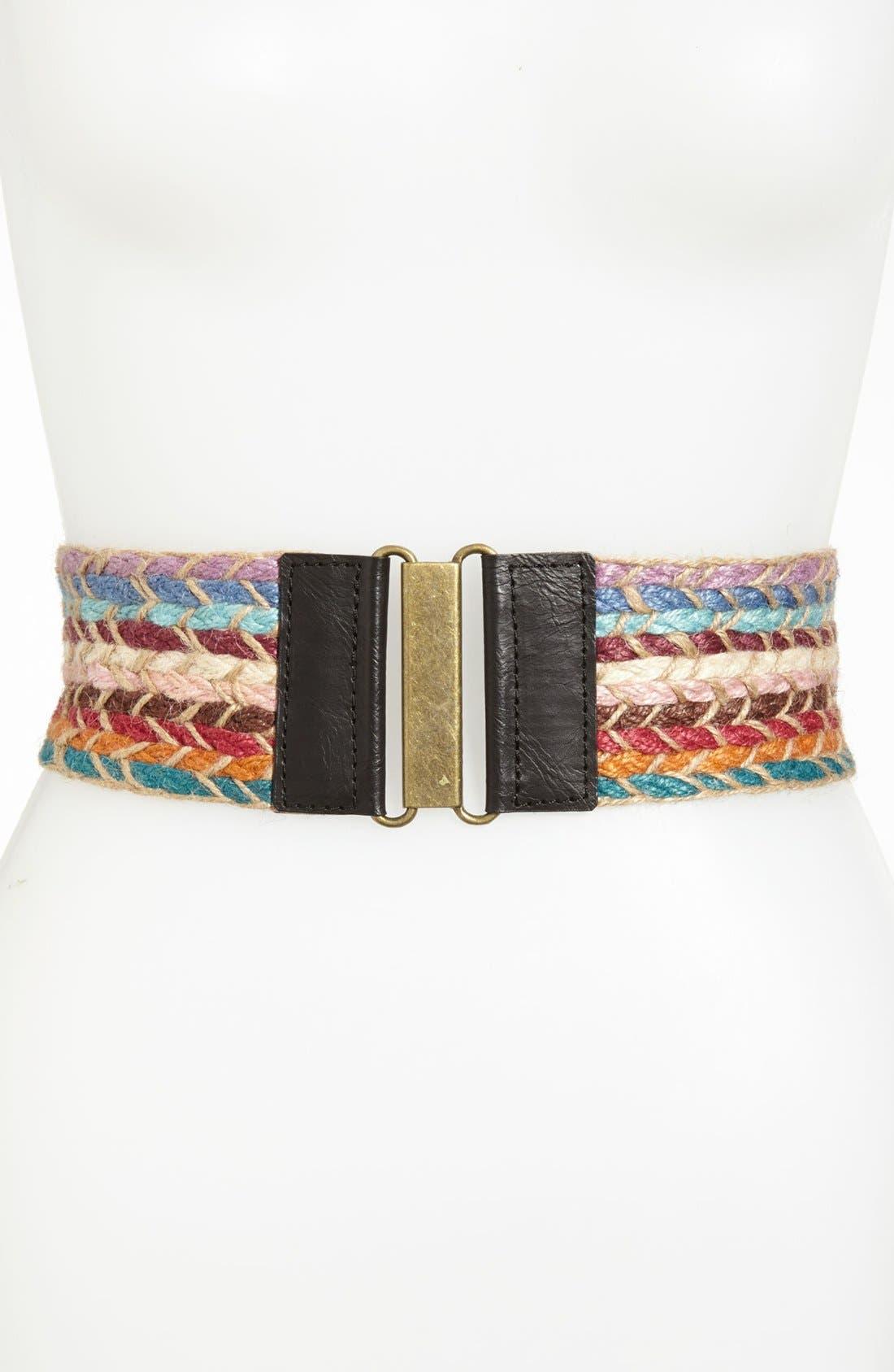 Alternate Image 1 Selected - Belgo Lux Chunky Yarn Stretch Belt