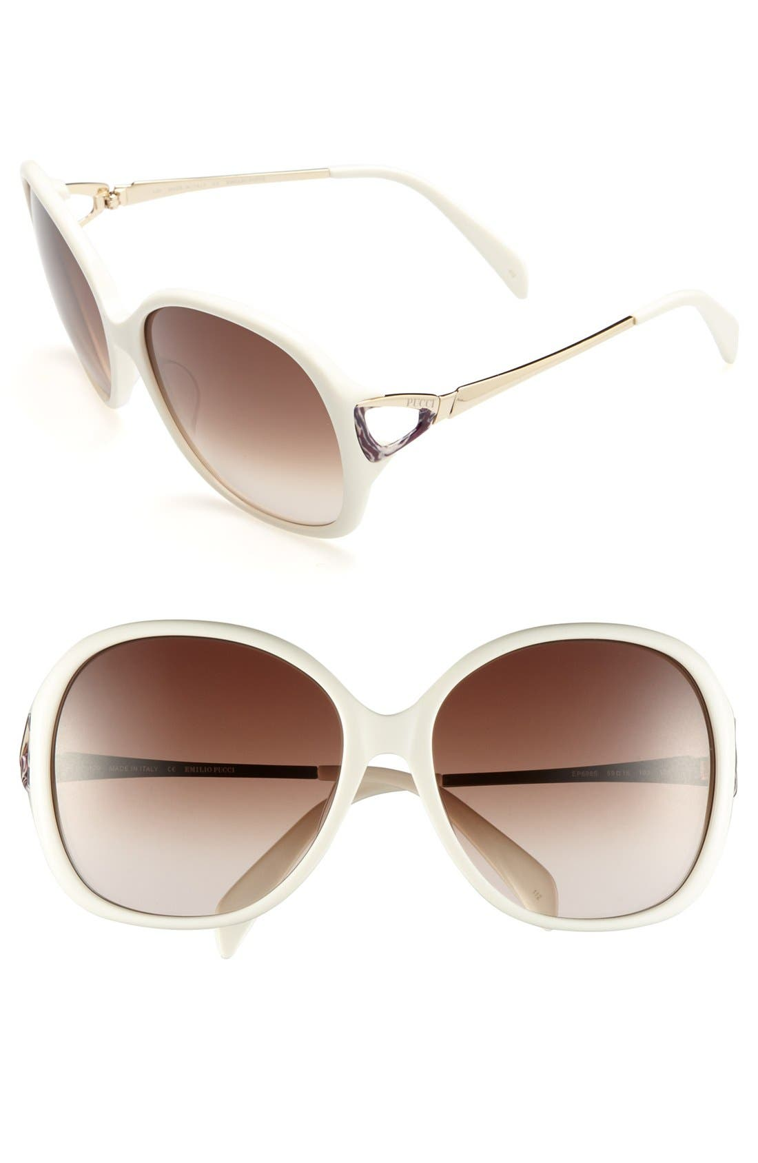Main Image - Emilio Pucci 59mm Sunglasses (Special Purchase)