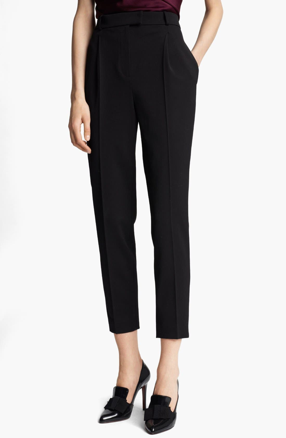 Alternate Image 1 Selected - Lanvin Narrow Stretch Gabardine Pants