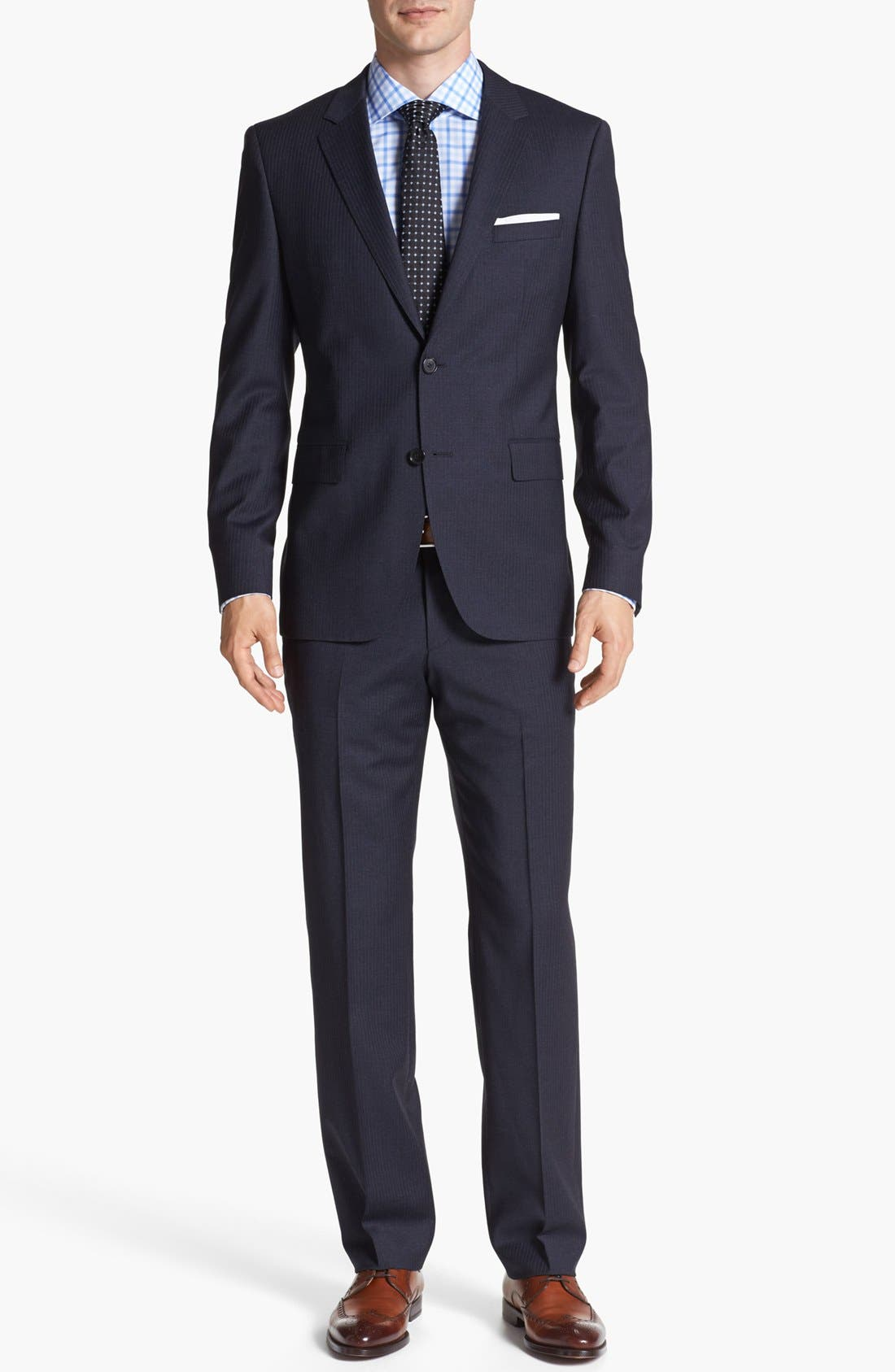 Main Image - BOSS HUGO BOSS 'James/Sharp' Trim Fit Stripe Suit