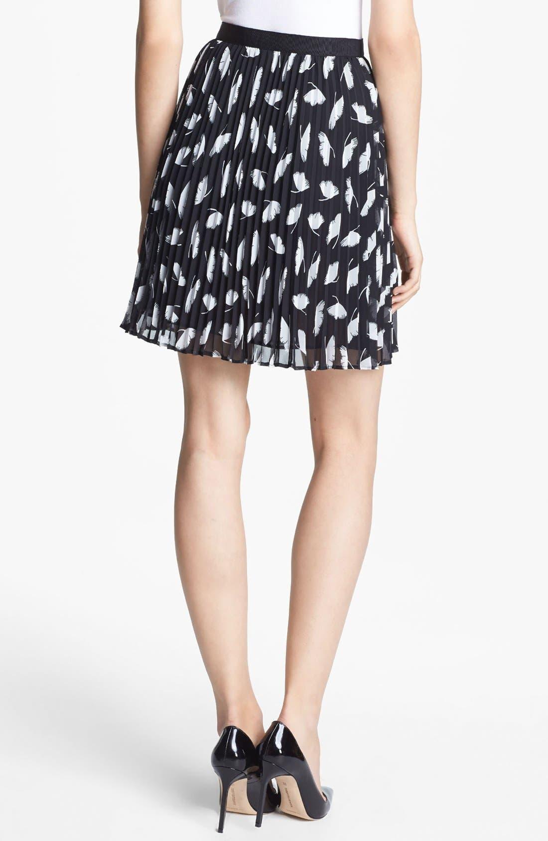 Alternate Image 3  - Miss Wu 'Delicate Leaf' Print Chiffon Skirt (Nordstrom Exclusive)