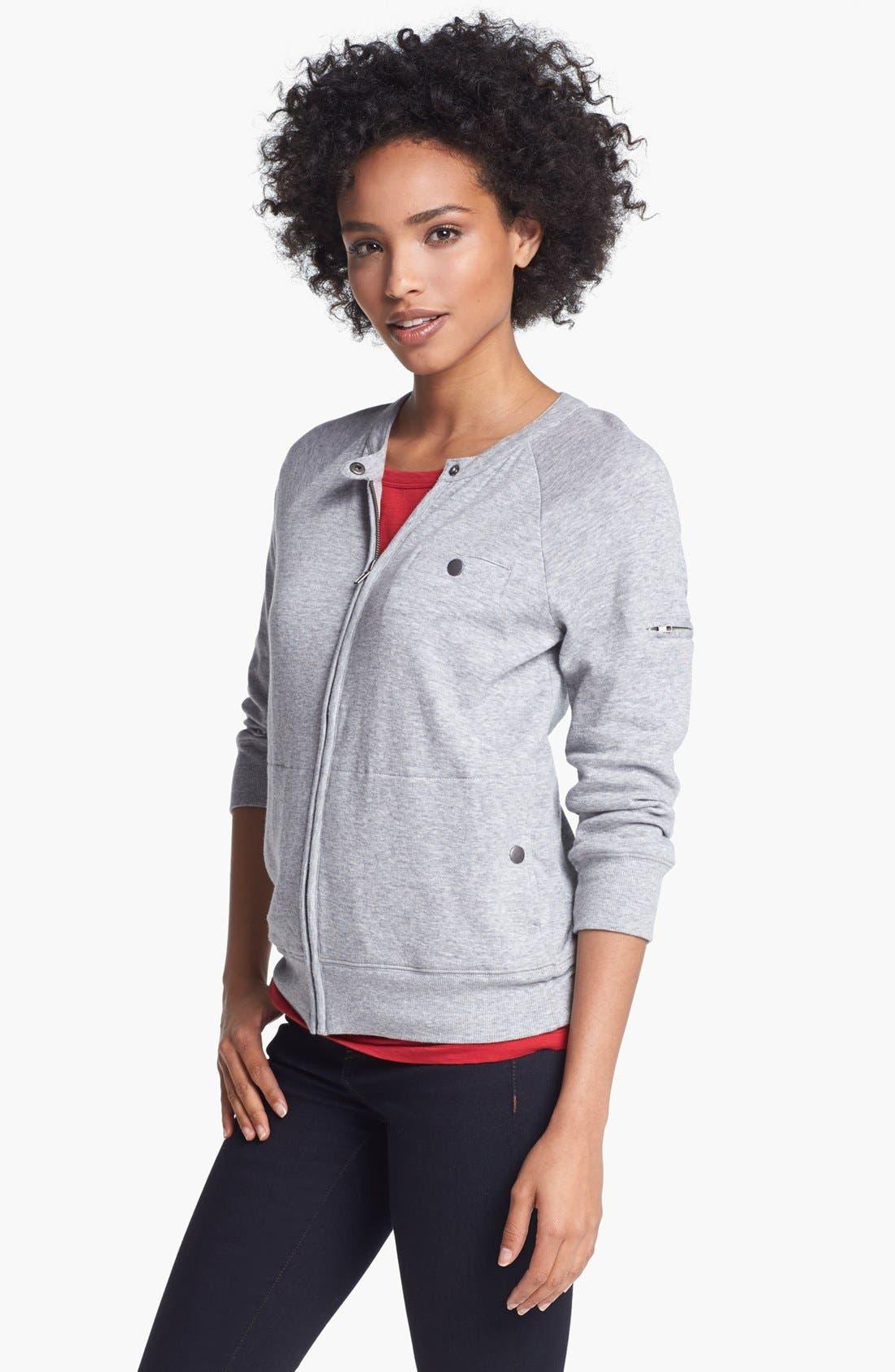 Main Image - Halogen® Front Zip Knit Jacket