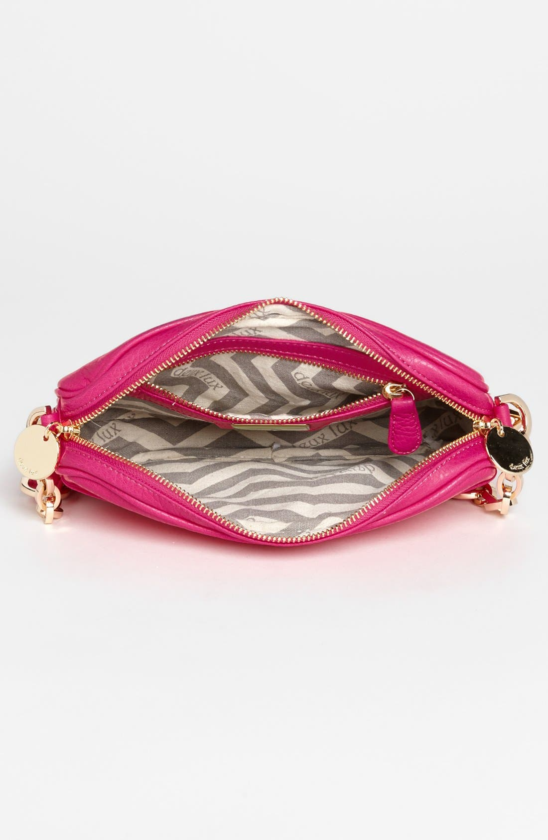 Alternate Image 3  - Deux Lux 'Empire State' Faux Leather Crossbody Bag