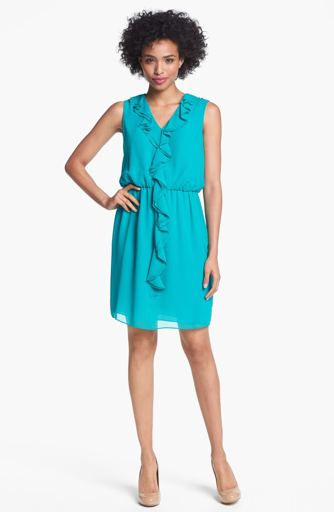 Main Image - Ivy & Blu Ruffle Front Chiffon Dress