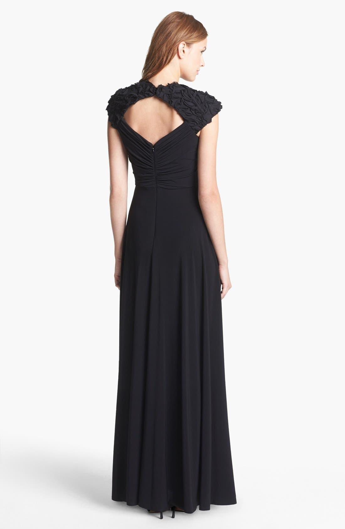 Alternate Image 2  - Patra 'Queen Anne' Ruffle Detail Jersey Dress