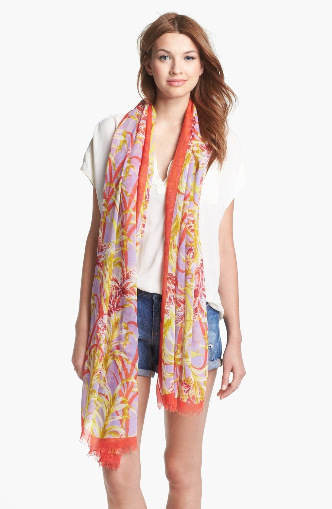 Main Image - kate spade new york 'ginger floral' scarf