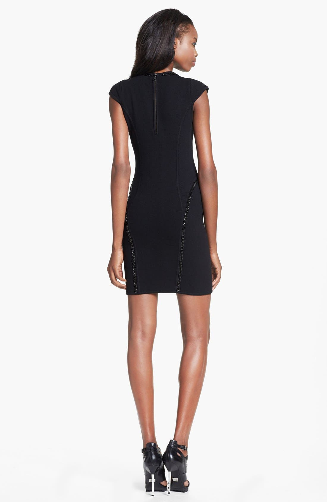 Alternate Image 2  - Milly 'Ditta' Chain Detail Merino Wool & Cotton Body-Con Dress
