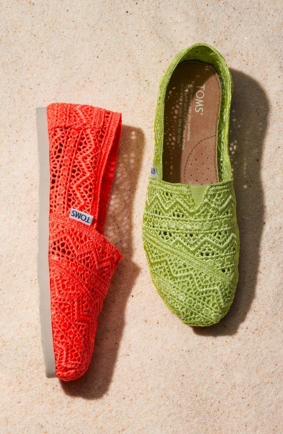 Alternate Image 5  - TOMS 'Classic - Neon' Crochet Slip-On (Women)