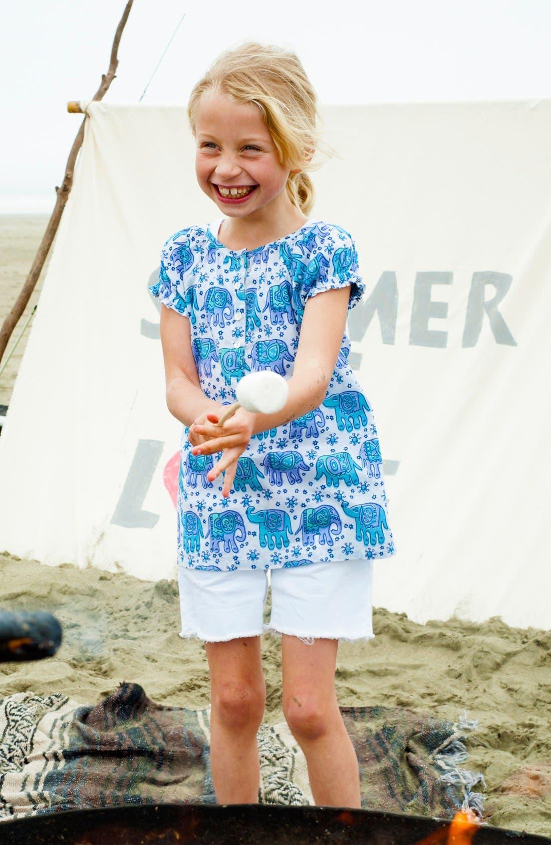 Alternate Image 1 Selected - Peek Top & Shorts (Toddler Girls, Little Girls & Big Girls)