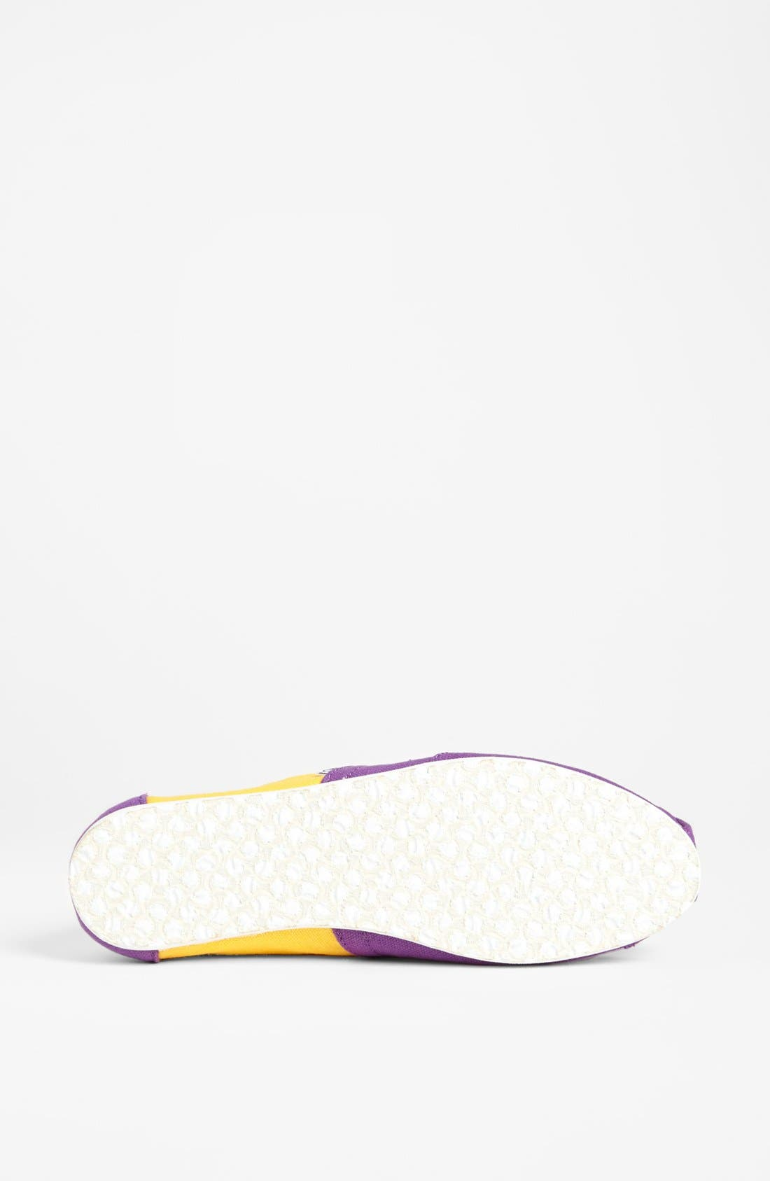 Alternate Image 4  - TOMS 'Campus Classics - Louisiana State' Slip-On (Women)