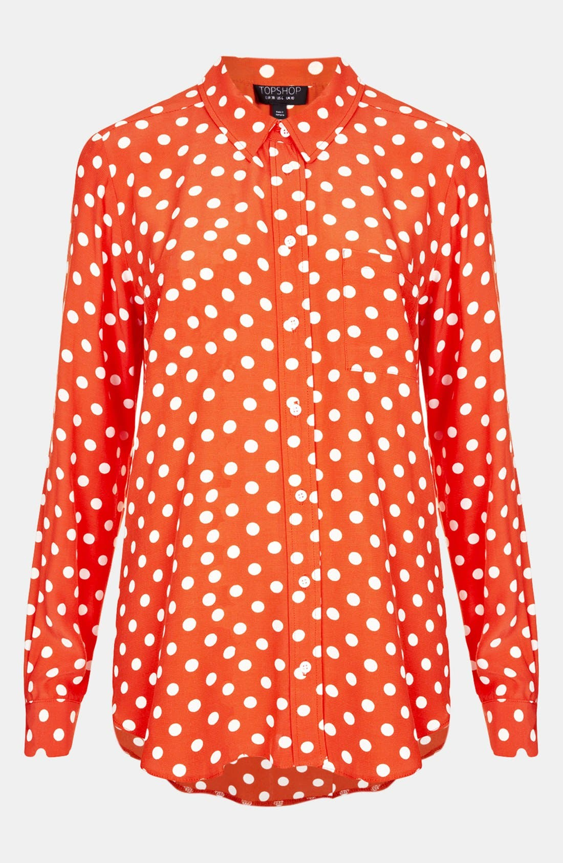 Alternate Image 1 Selected - Topshop Polka Dot Dolman Shirt