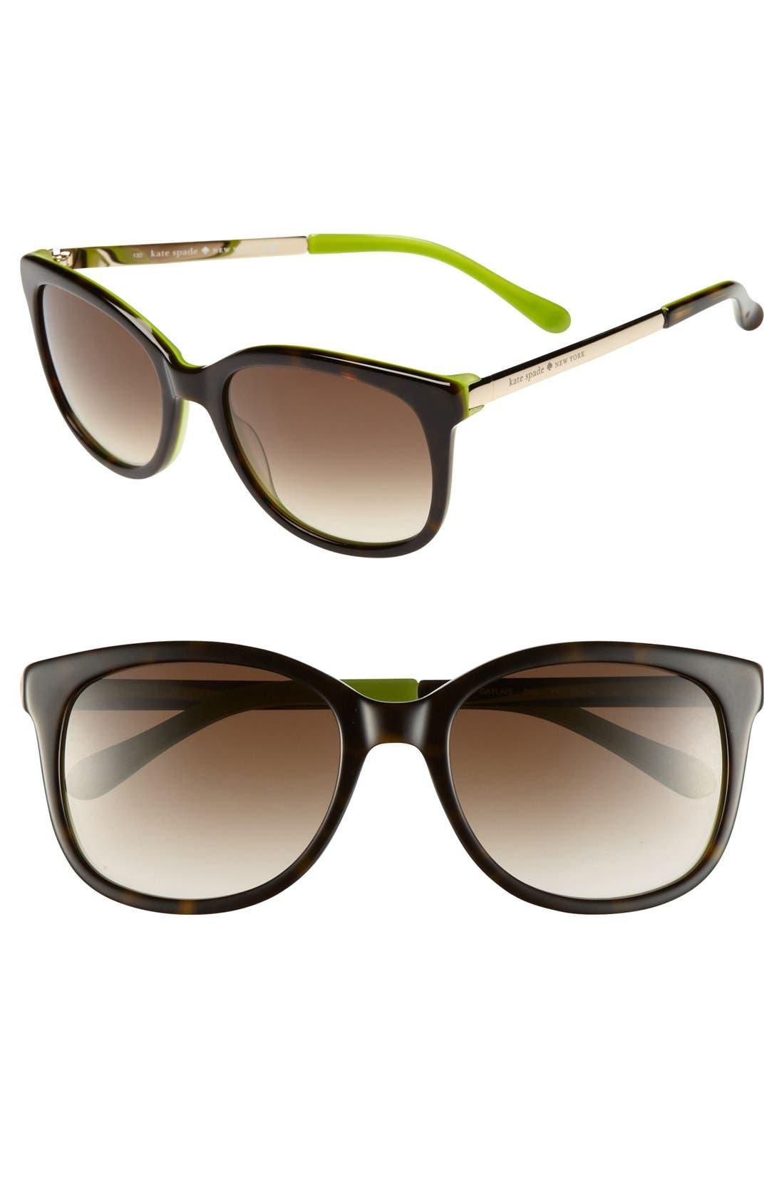 Alternate Image 1 Selected - kate spade new york 'gayla' 52mm sunglasses