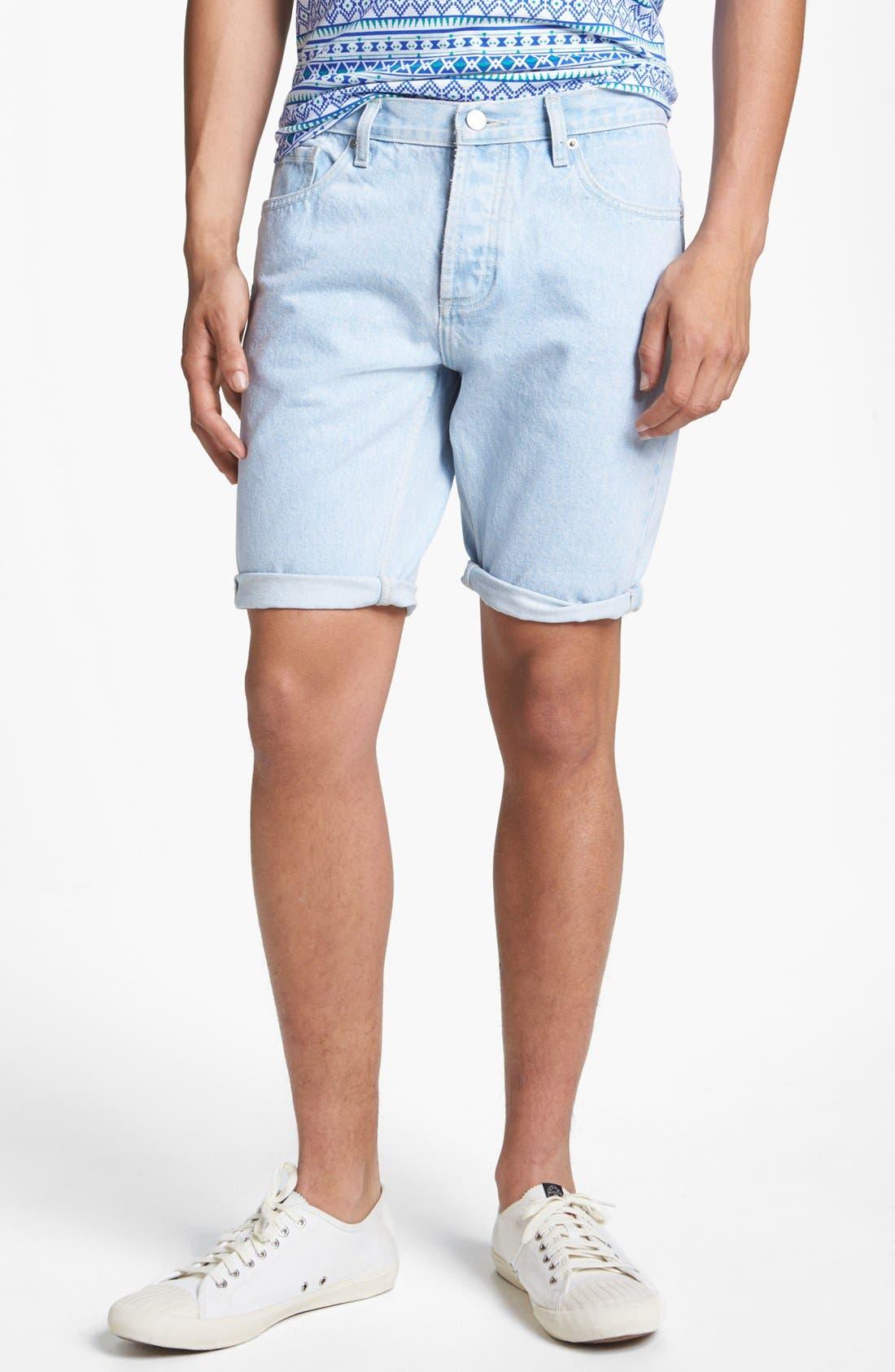 Main Image - Topman Skinny Denim Shorts