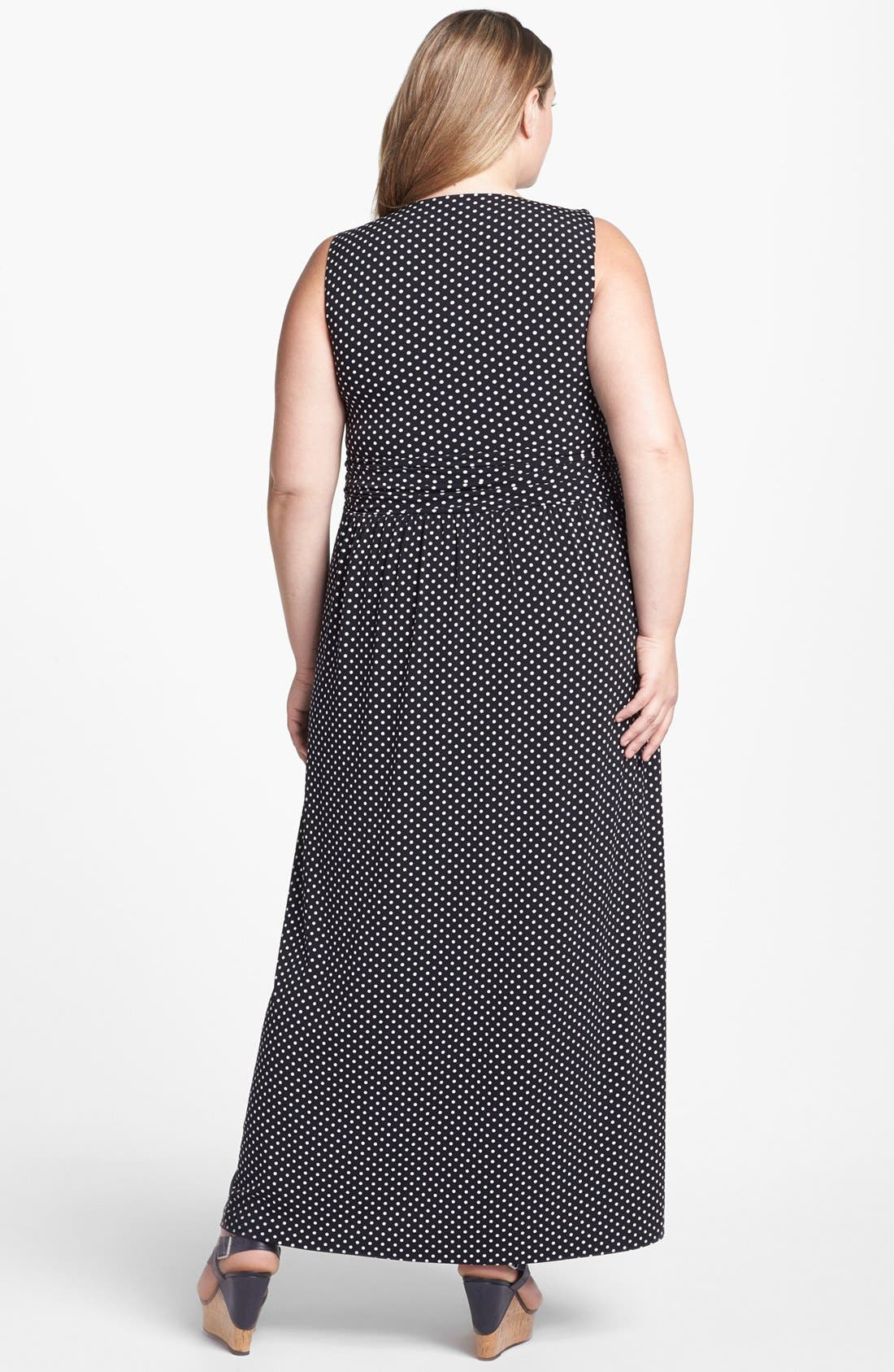 Alternate Image 2  - Vince Camuto Polka Dot Maxi Dress (Plus Size) (Online Only)