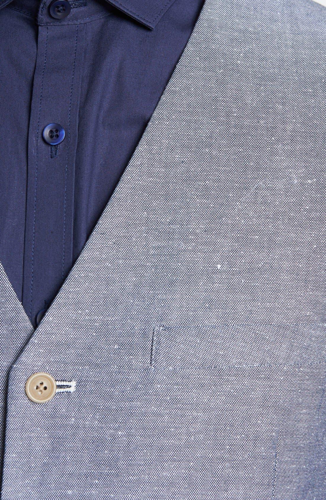 Alternate Image 3  - Topman Trim Fit Oxford Waistcoat