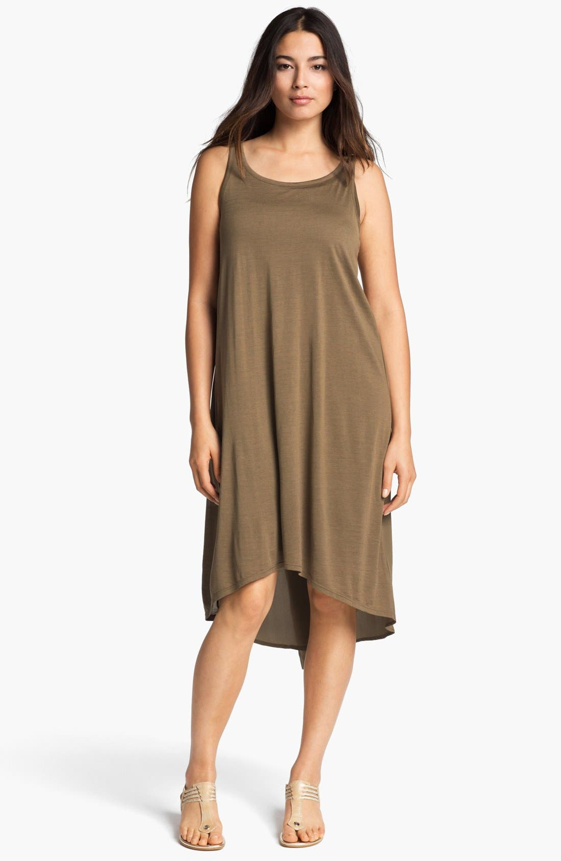 Main Image - Eileen Fisher Scoop Neck Flared Dress