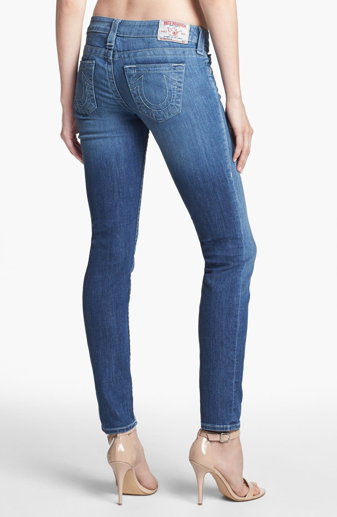 Alternate Image 2  - True Religion Brand Jeans 'Stella' Skinny Jeans (Cabin Creek)
