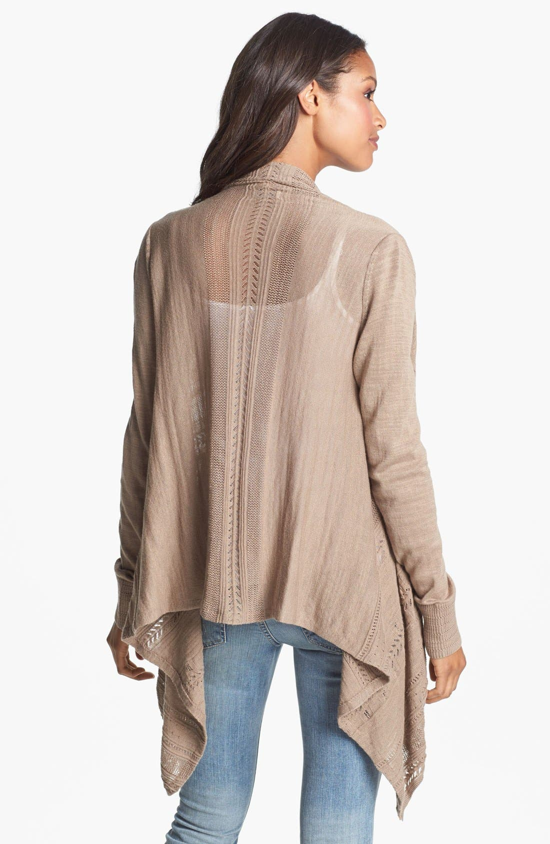 Alternate Image 2  - Lucky Brand Pointelle Wrap Cardigan