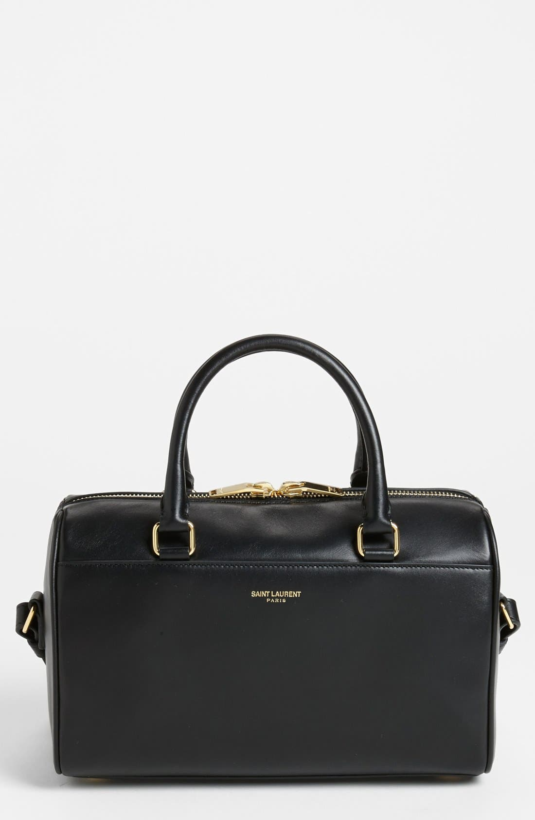 Alternate Image 1 Selected - Saint Laurent 'Small Duffle 3' Leather Crossbody Satchel