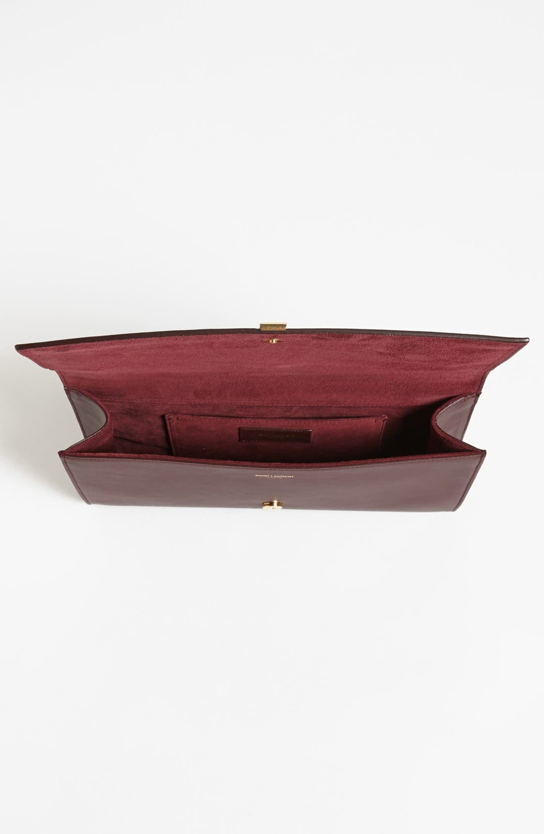 Alternate Image 4  - Saint Laurent 'Y' Leather Clutch