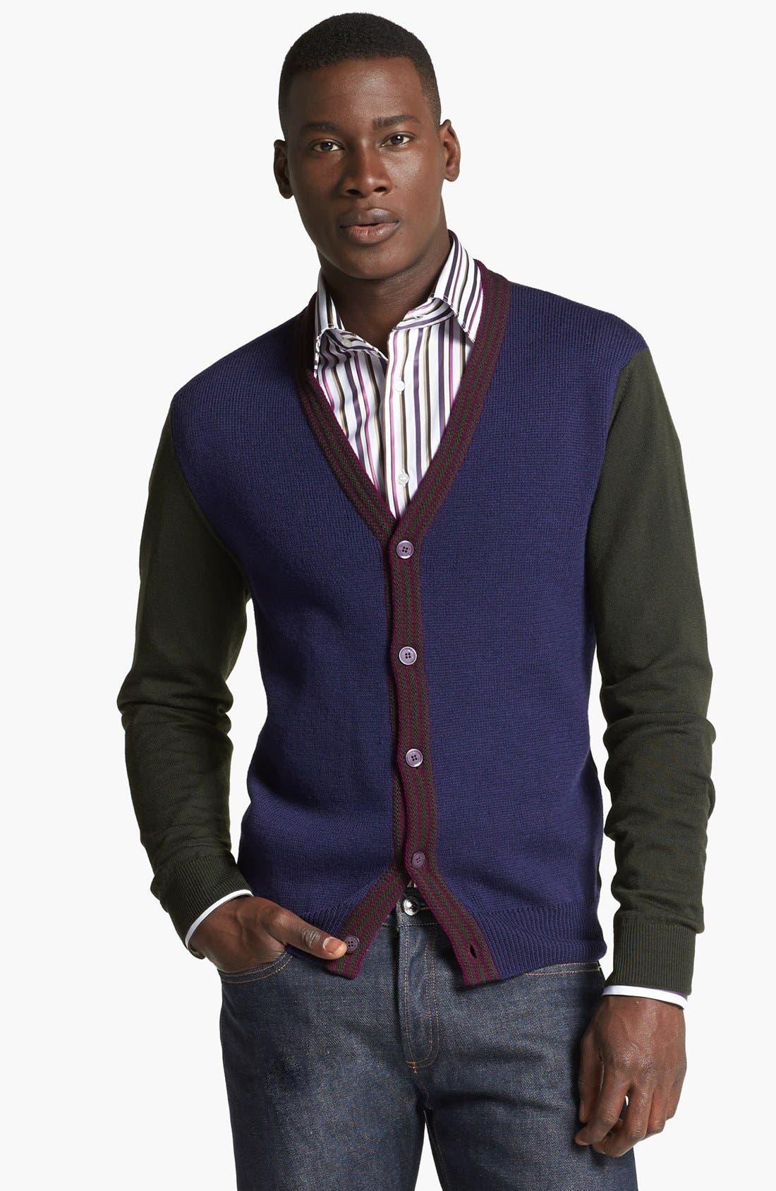Main Image - Etro Colorblock Wool Cardigan