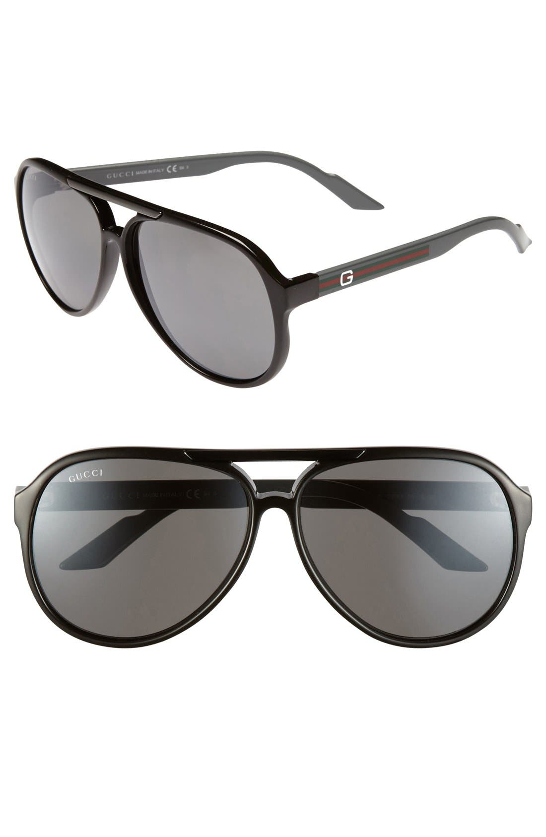Alternate Image 1 Selected - Gucci '1627/S' 59mm Aviator Sunglasses