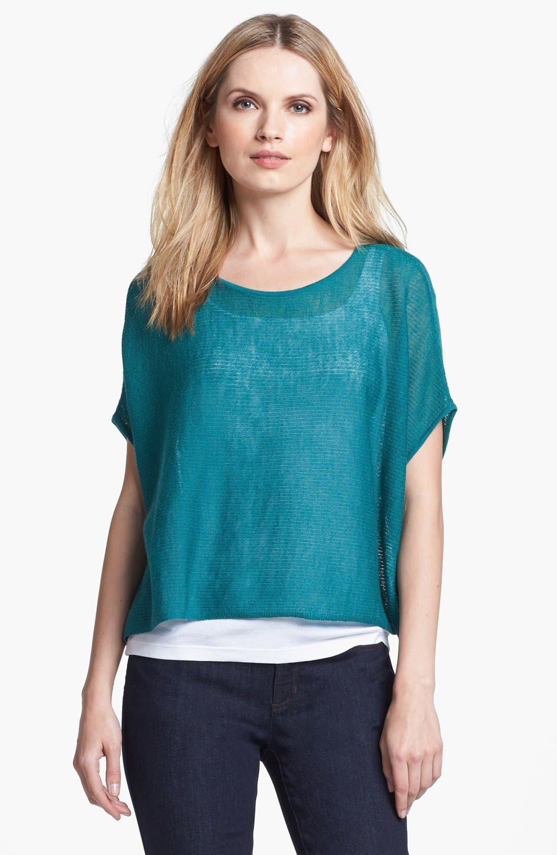 Alternate Image 1 Selected - Eileen Fisher 'Ethereal Wool' Short Poncho Top (Regular & Petite)