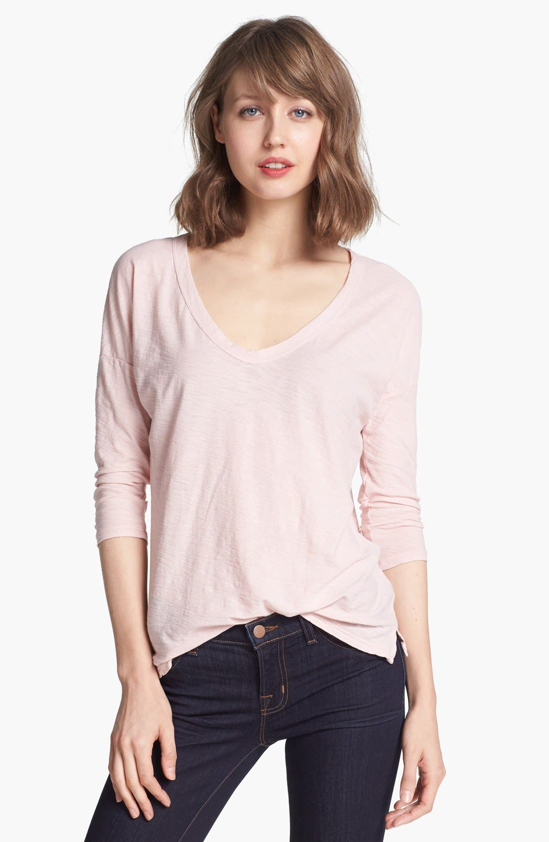 Alternate Image 1 Selected - James Perse Relaxed Fit V-Neck Tee