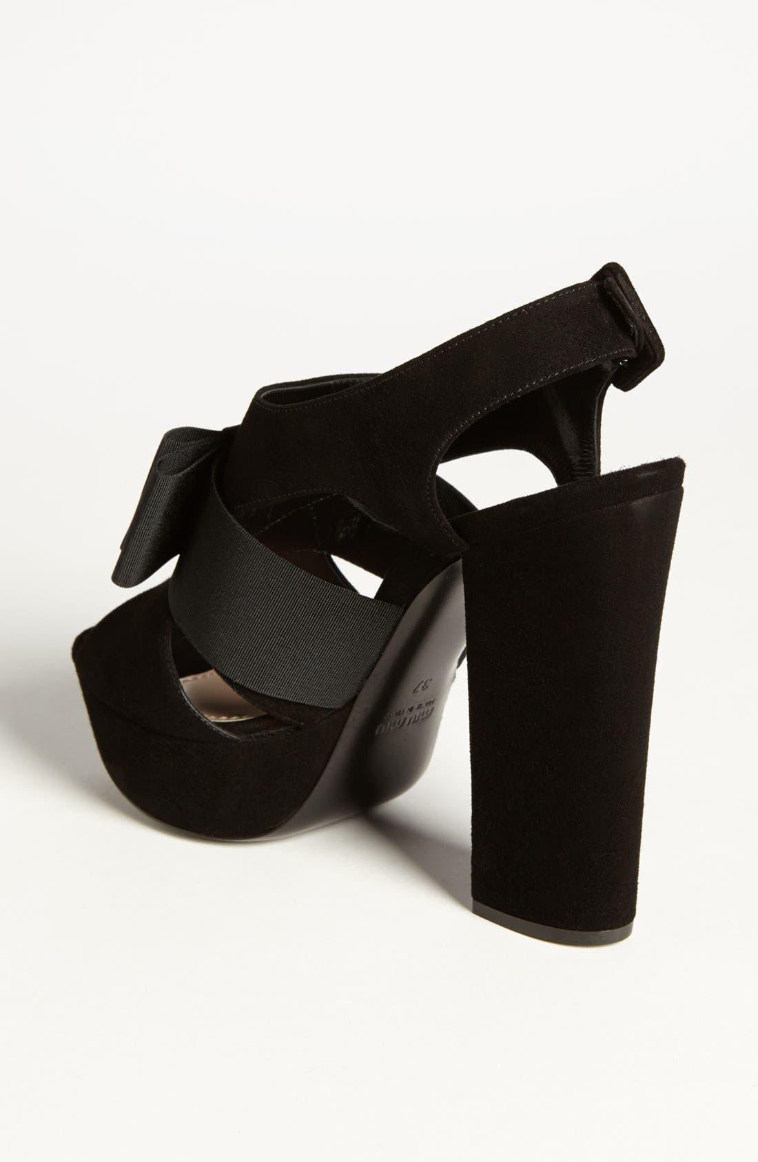 Alternate Image 2  - Miu Miu 'Tuxedo Bow' Sandal