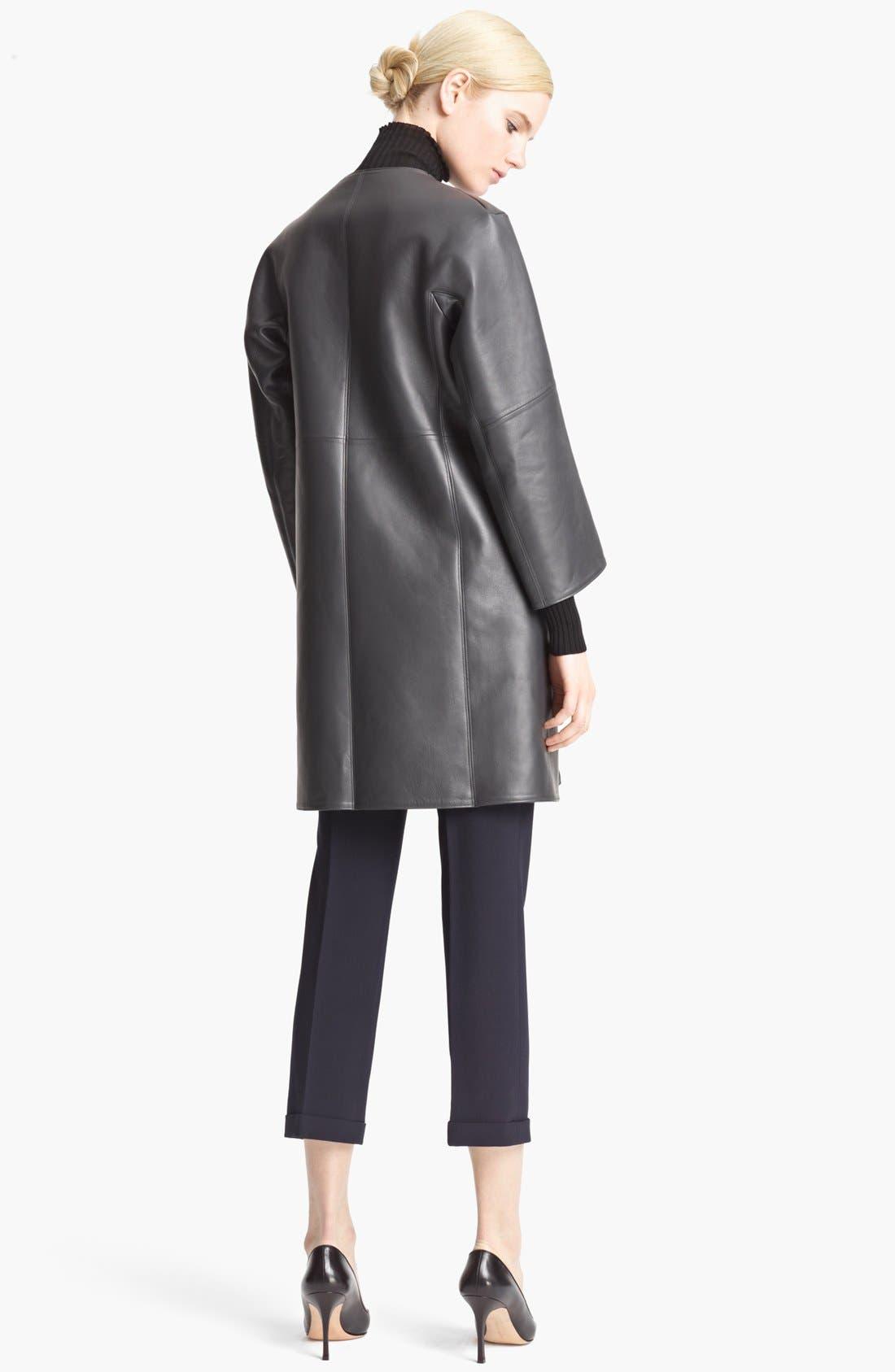 Alternate Image 2  - Jil Sander Long Leather Coat